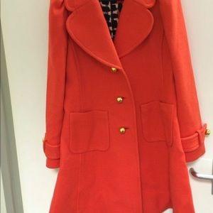 kate spade red wool winter coat